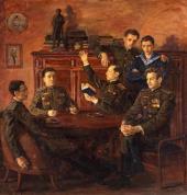 В.И. ПЕРЕЯСЛАВЕЦ. Групповой портрет потомков А.С. Пушкина. 1957