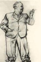 Неизвестный художник. Шарж на В.А.Серова. [1943]