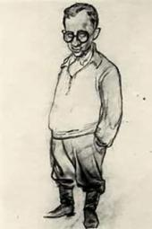 Неизвестный художник. Шарж на В.И. Малагиса. [1943]
