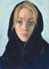 Девушка в черном платке. 1963