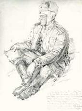 Майор Тимофей Федорович Коковин. После боя. 1944