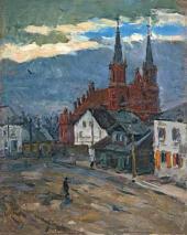 Костел в Лосице. Польша. 1944