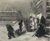 С.С. Бойм. У булочной. Из серии «Ленинград в блокаде». 1942
