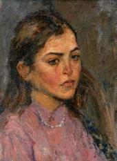 А.Ф. Суханов. Портрет девушки. 1942–1943