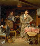 «Свежий кавалер». Утро чиновника, получившего первый крестик. 1846