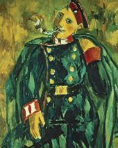 М.Ф.ЛАРИОНОВ. Курящий солдат. 1910–1911