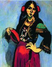 Анри МАТИСС. Испанка с бубном. 1909