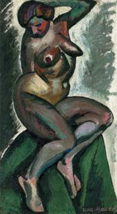 И.И.МАШКОВ. Сидящая натурщица. 1912–1913