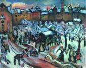 Эмиль Отон ФРИЕЗ. Снег в Мюнхене. 1909