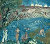 М.Ф.ЛАРИОНОВ. Купающиеся солдаты. 1911