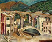 И.И.МАШКОВ Италия. Нерви. Пейзаж с акведуком. 1913