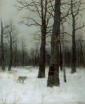 И.И.ЛЕВИТАН. Зимой в лесу. 1885