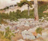 И.И.ЛЕВИТАН. Крым. В горах. 1886 Неоконченный этюд.