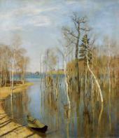 И.И.ЛЕВИТАН. Весна – большая вода. 1897