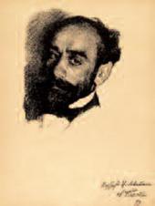 Л.С.БАКСТ. Портрет И.И.Левитана 1899