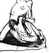 МУЖЧИНА И ЖЕНЩИНА. НАБРОСОК. ПАРИЖ. 1900
