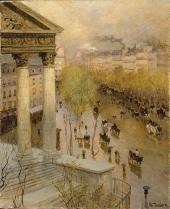 ФРИЦ ТАУЛОВ. БУЛЬВАР МАДЛЕН В ПАРИЖЕ. 1895