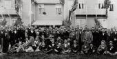 ЭДВАРД ГРИГ С МУЗЫКАНТАМИ ОРКЕСТРА КОНЦЕРТГЕБАУ. 1898. ФОТОГРАФИЯ