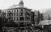 ПРАЗДНОВАНИЕ 60-ЛЕТИЯ Э. ГРИГА. ФОТОГРАФИЯ. 1903. БЕРГЕН