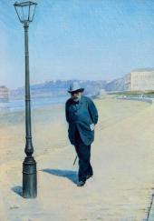 Петр Иванович Щукин на прогулке. 1900-е