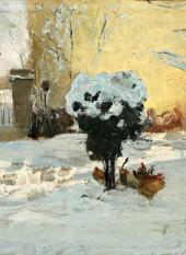 Сад художника в Брессу, пригороде Льежа. 1890-е