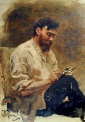 И.Е.Репин. Портрет И.П. Похитонова. 1889