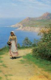 Дорога над берегом моря. 1890-е