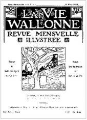 Обложка журнала La Vie Wallonne. 15 марта 1924