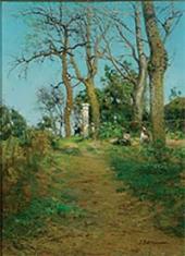 Тру-Луэт. Огородницы в саду. 1890-е