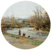 Ранняя весна. По. Прачки на берегу Гавы. 1885