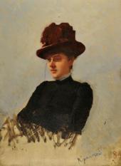 И.Н. Крамской. Портрет М.К. Похитоновой. 1884