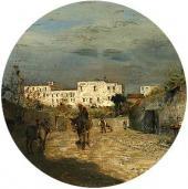 Улочка на юге Франции. Конец 1880-х. Фрагмент.
