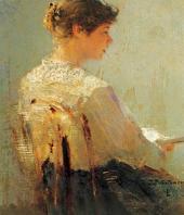 Портрет Е.К. Вульферт. 1888