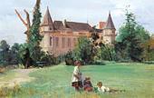 В парке замка. 1880