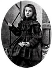 Зоя Похитонова, дочь художника. Фото. 1900