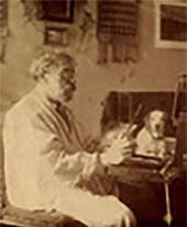 И.П. Похитонов в петербургской квартире. Фото. 1915