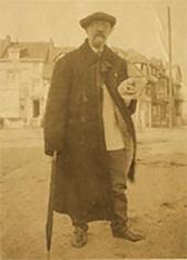 И.П.Похитонов в Ла-Панне. Фото. 1920