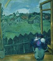 Вид из окна в Витебске (Окно. Витебск). 1908