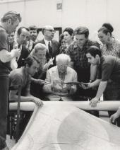 Марк Шагал в Государственной Третьяковской галерее. 1973
