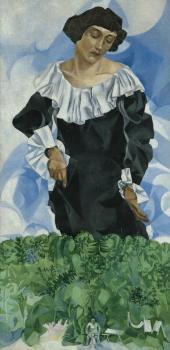 Белла с белым воротником. 1917