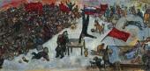 Революция. 1937 Эскиз одноименной картины, впоследствии переработанной в триптих