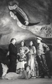 Марк Шагал на премьере балета «Алеко». Мехико, 1942