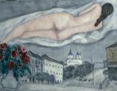 Марк Шагал. Обнаженная над Витебском. 1933