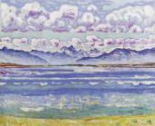 Гора Вайсхорн. Вид со стороны селения Монтана. 1915