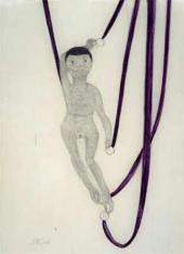 Пауль КЛЕЕ. Кукла с фиолетовыми лентами. 1906