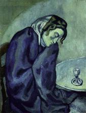 Пабло ПИКАССО. Задремавшая любительница выпить. 1902