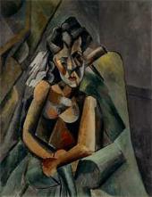 Пабло ПИКАССО. Сидящая женщина. 1909