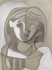 Пабло ПИКАССО. Голова женщины (Мари-Терез) анфас и в профиль. 1926