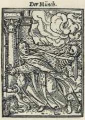 Монах. Из серии «Пляски смерти». Гравюра на дереве