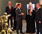 Президент и Патриарх открыли выставку к 75-летию Победы